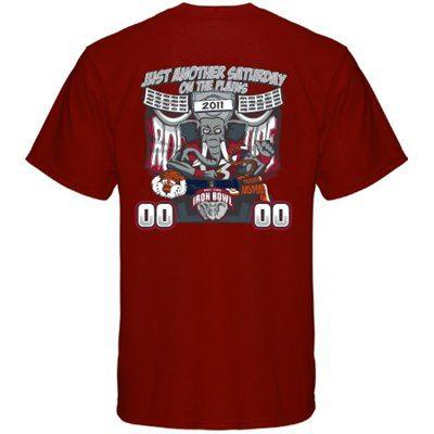 Iron Bowl 2011 t-shirt crimson