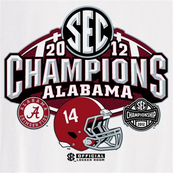 2012 SEC Champions Alabama Official Locker Room teeshirt